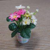 【簡単】お花のミニ植木鉢の作り方|高齢者の手芸と工作