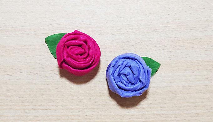 フェルトの薔薇(バラ)のマグネット