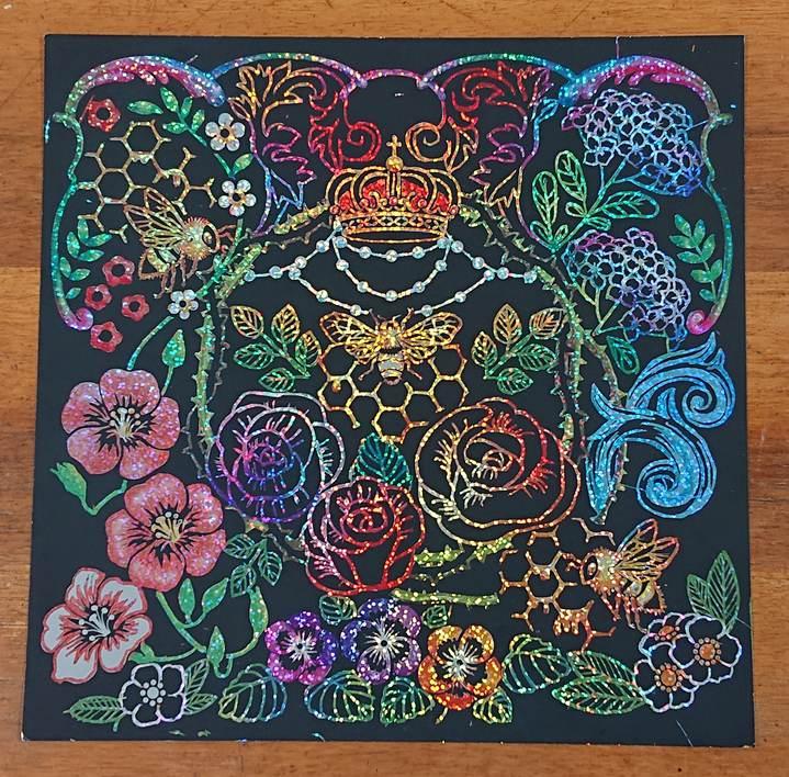 花と動物たちのファンタジー バラと王冠